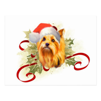 Yorkshire Terrier Christmas Postcard