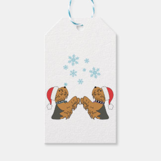Yorkshire Terrier Christmas Wrapping Gift Tags