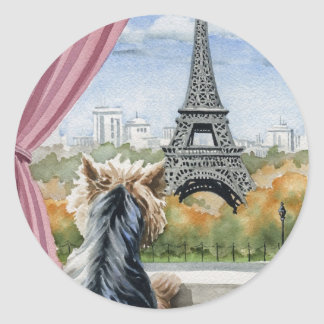 Yorkshire Terrier Classic Round Sticker