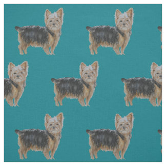 Yorkshire Terrier Dog Art Watercolor Fabric