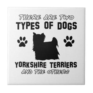 Yorkshire Terrier dog breed designs Tile