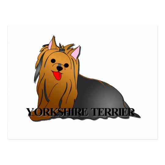 Yorkshire Terrier Dog Cartoon Postcard