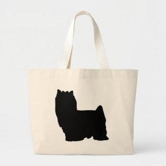 Yorkshire Terrier Dog Large Tote Bag
