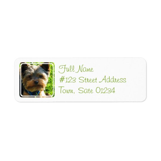 Yorkshire Terrier Dog Return Address Label