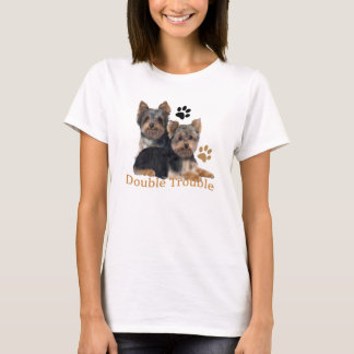 Yorkshire Terrier Double Trouble apparel T-Shirt