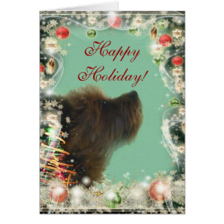 Yorkshire Terrier holiday card