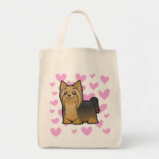 Yorkshire Terrier Love (long hair no bow) Tote Bag