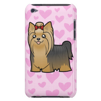 Yorkshire Terrier Love (long hair with bow) Barely There iPod Cases