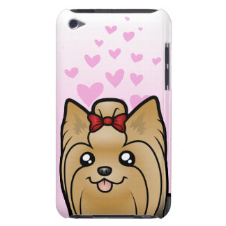 Yorkshire Terrier Love (long hair with bow) Barely There iPod Cover
