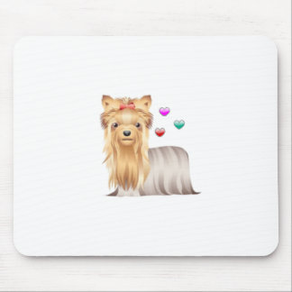 Yorkshire Terrier Love Mouse Mat