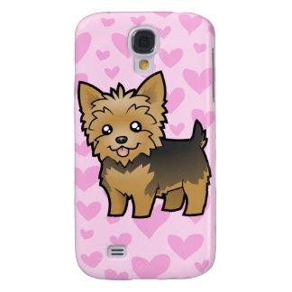 Yorkshire Terrier Love (short hair) add a pern Samsung Galaxy S4 Cases
