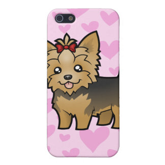 Yorkshire Terrier Love (short hair) add a pern iPhone 5 Cover