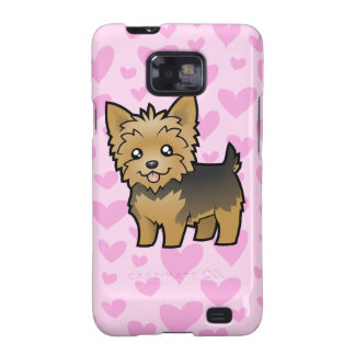 Yorkshire Terrier Love (short hair no bow) Samsung Galaxy S2 Covers