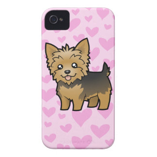 Yorkshire Terrier Love (short hair no bow) iPhone 4 Case-Mate Cases