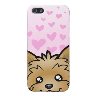 Yorkshire Terrier Love (short hair no bow) iPhone 5 Cases