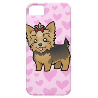 Yorkshire Terrier Love (short hair with bow) Barely There iPhone 5 Case