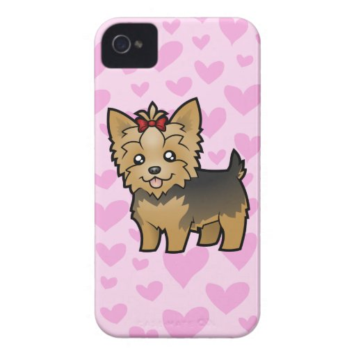 Yorkshire Terrier Love (short hair with bow) Blackberry Bold Cover