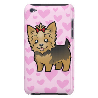 Yorkshire Terrier Love (short hair with bow) Barely There iPod Cover