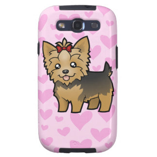 Yorkshire Terrier Love (short hair with bow) Samsung Galaxy S3 Case