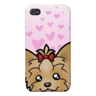 Yorkshire Terrier Love (short hair with bow) iPhone 4/4S Case