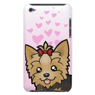 Yorkshire Terrier Love (short hair with bow) iPod Case-Mate Case