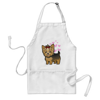 Yorkshire Terrier Love (short hair with bow) Standard Apron