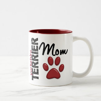 Yorkshire Terrier Mom 2 Two-Tone Coffee Mug