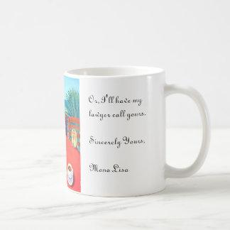 Yorkshire Terrier Mona Lisa Coffee Mugs