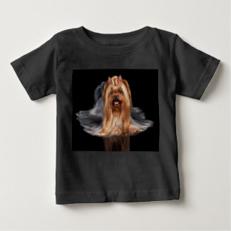 Yorkshire Terrier on black Baby T-Shirt