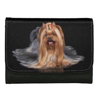 Yorkshire Terrier on black Wallet