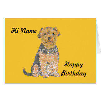 Yorkshire terrier on multiple products add text, greeting card