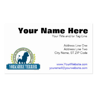 Yorkshire Terrier Pack Of Standard Business Cards