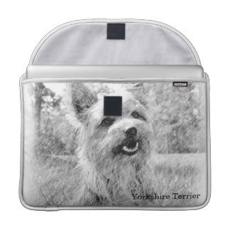 Yorkshire Terrier Pencil Draw MacBook Pro Sleeve