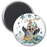 Yorkshire Terrier Perfect Angel 6 Cm Round Magnet