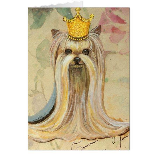 Yorkshire Terrier Princess n Roses Card