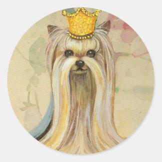 Yorkshire Terrier Princess n Roses Stickers