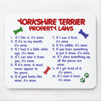 YORKSHIRE TERRIER Property Laws 2 Yorkie Mouse Mat