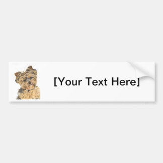 Yorkshire Terrier Pup Painting Bumper Sticker
