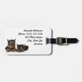 Yorkshire Terrier Puppies Luggage Tag