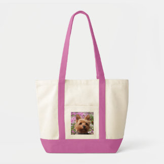 Yorkshire Terrier  Puppy Dog Beach Canvas Totebag Tote Bag