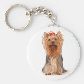Yorkshire Terrier Puppy Dog Keychain