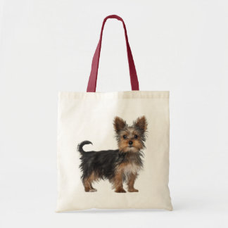 Yorkshire Terrier Puppy Dog Love Tote Budget Tote Bag