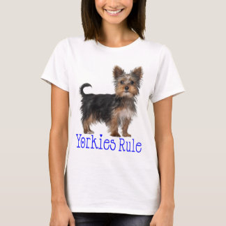 Yorkshire Terrier Puppy Dog Yorkies Rule Women's T-Shirt