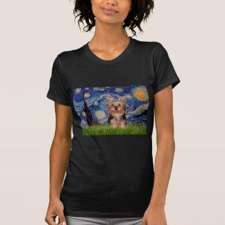 Yorkshire Terrier Puppy - Starry Night T-Shirt