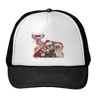 Yorkshire Terrier Santa Family Trucker Hat