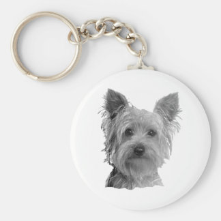 Yorkshire Terrier Stylized Image Key Ring