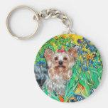 Yorkshire Terrier (T) - Irises Keychain