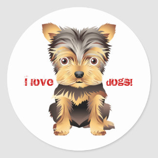 Yorkshire Terrier Toy Dog Gift Stickers