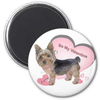 Yorkshire Terrier Valentine Gifts 6 Cm Round Magnet