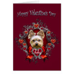 Yorkshire Terrier Valentine's Day Greeting Card